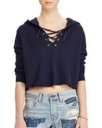 Denim & Supply Ralph Lauren   French Terry Lace-up Hoodie   Lyst