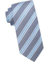 Black Brown 1826 - Striped Silk Tie - Lyst
