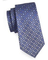 Geoffrey Beene - Neat Grid Silk-blend Tie - Lyst