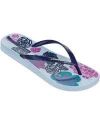 Ipanema - Floral Bottom Flip Flops - Lyst