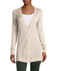 G.H. Bass & Co. - Solid Button Cardigan - Lyst