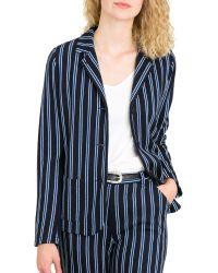agnès b. - Long Sleeve College Jacket - Lyst