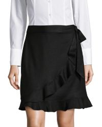 Ivanka Trump | Ruffle Hem Side-tie Wrap Skirt | Lyst