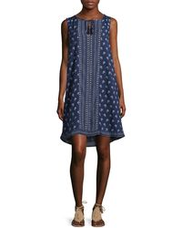 Two By Vince Camuto   Petite Paisley Tassel Swing Dress   Lyst