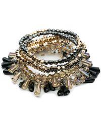 ABS By Allen Schwartz - Smoke And Mirrors Six-piece Beaded Stretch Bracelet Set - Lyst