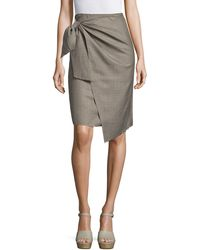 MO&CO. EDITION10 - Glen Plaid Knot Front Skirt - Lyst
