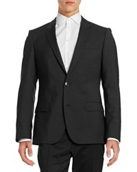 HUGO - Pickstitched Two-button Wool Jacket - Lyst
