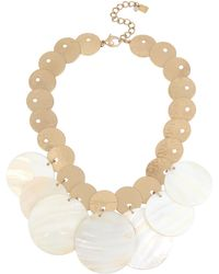 Robert Lee Morris - Moonrise Mother-of-pearl Statement Necklace - Lyst