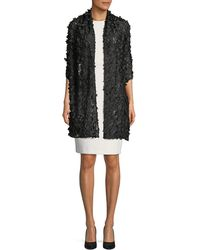 Karl Lagerfeld | 3d Floral Lace Capelet | Lyst
