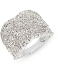 Effy | Sterling Silver Ring With 0.97 Tcw Diamonds | Lyst