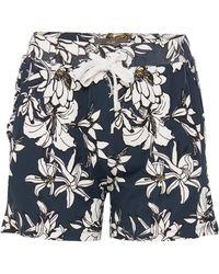 Ichi - Lisa Floral Shorts - Lyst