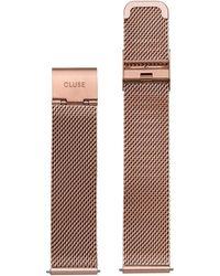 Cluse - La Boheme Mesh Rosegold Horlogeband - Lyst