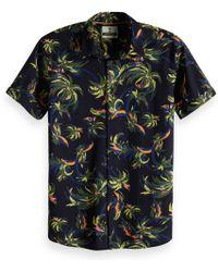 Scotch & Soda - Overhemd Met Palmpatroon - Lyst