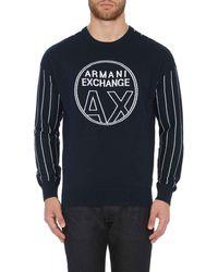 Armani Exchange - Pullover Met Contrasterende Mouw - Lyst