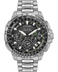 Citizen - Satellite Gps Promaster Navihawk Silvertone Stainless Steel Watch - Lyst