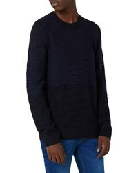 TOPMAN - Slim Fit Panel Knit Sweater - Lyst