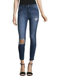 Lord & Taylor - High-rise Skinny Jeans - Lyst