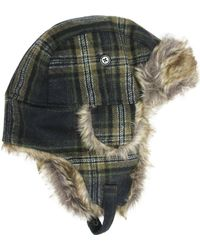 Hudson North - Plaid Faux Fur Trapper Hat - Lyst