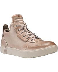 Timberland | Amherst High Top Leather Chukka Sneakers | Lyst