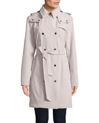 CALVIN KLEIN 205W39NYC - Stretch Soft Shell Belted Jacket - Lyst