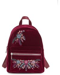 Lord & Taylor - Embroidered Mini Backpack - Lyst