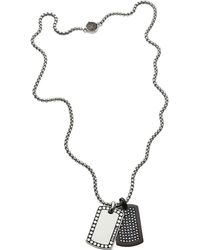 DIESEL - Heren Collier Double Dogtags Dx1169040 - Lyst
