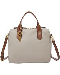 Fossil - Fiona Vintage Leather Satchel - Lyst