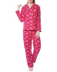 Jasmine Rose - Cotton Fox Graphic Pajama Set - Lyst