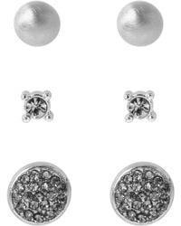 Kenneth Cole - Three-piece Crystal Stud Earrings Set - Lyst