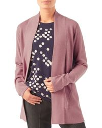 Eastex - Mid-length Open Front Cardigan - Lyst