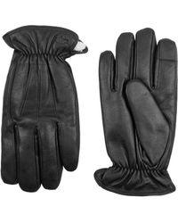 Dockers - Faux Fur Trim Leather Gloves - Lyst