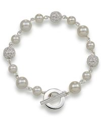 Carolee - Crystal Fireball And White Pearl Bracelet - Lyst