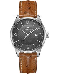 Hamilton | Stainless Steel Analog Leather Strap Watch | Lyst