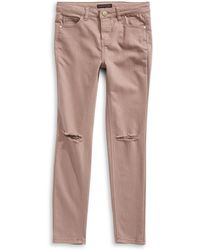 Material Girl - Torn Knee Jeans - Lyst