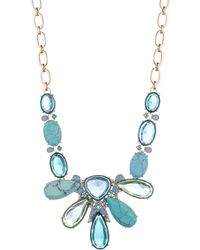 Carolee - Ombre Stone Statement Necklace - Lyst