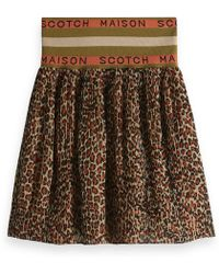 Scotch & Soda - Rok Met Contrasterende Taille - Lyst