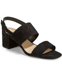 424 Fifth | Blocked Slingback Sandals | Lyst