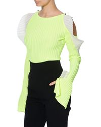 David Koma Neon Women Yellow Jumper