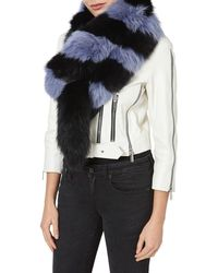 Charlotte Simone - Popsicle Women Black And Blue Scarf - Lyst