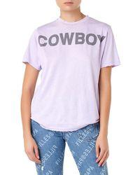 Filles A Papa - Cowboy Distressed Tee Women Purple T-shirt - Lyst