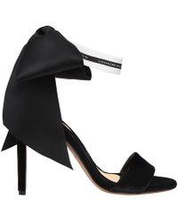 Alexandre Vauthier - Bow Down Black Velvet Sandals - Lyst