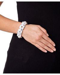 Eshvi - Robot Women Black And White Bracelet - Lyst