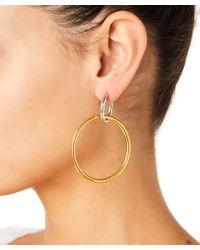 Maria Stern - Rhodium Women Gold And Silver Earrings - Lyst
