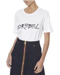 Bevza Adorebel Women White T-shirt