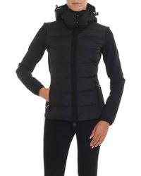 Moncler Grenoble - Scuba Effect Technical Fabric Black Sweatshirt - Lyst