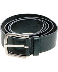 Orciani - Green Metallic Leather Belt - Lyst