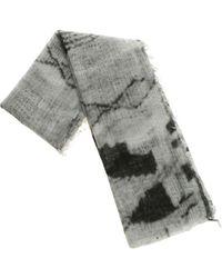 Avant Toi - Melange Grey Cashmere Scarf - Lyst
