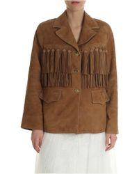 Ermanno Scervino - Scervino Jacket In Genuine Suede Leather - Lyst