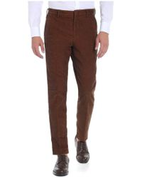 "Pence - Rust-colored ""arrigo"" Trousers - Lyst"