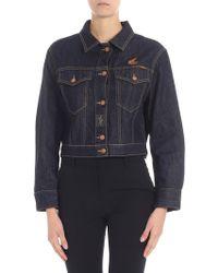 Vivienne Westwood Anglomania - Giubbino jeans blu con logo - Lyst